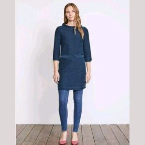 Boden Louise Jersey Tunic Long Sleeves Chambray